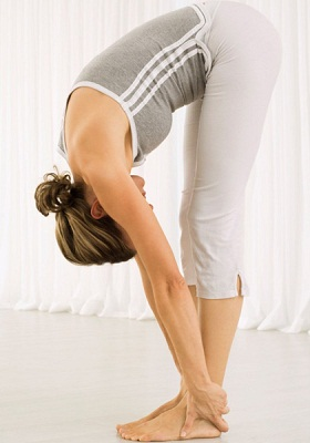 Hastapadasana (Standing Forward Bend) to increase height