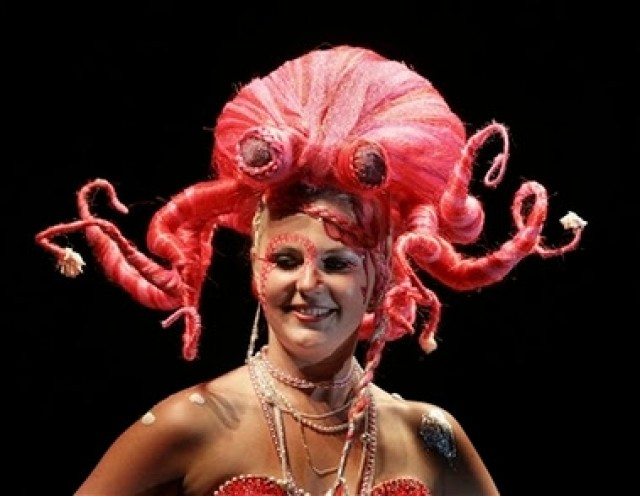 weird strange crazy hairdo octopus hairstyle
