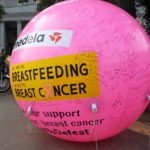 Over 250 women signed the Giant Pink Balloon Installed at the Raahgiri