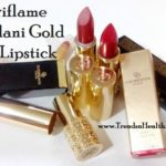 Oriflame Giordani Gold Jewel Lipstick Review and Swatches