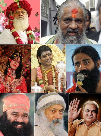 indian godmen collage