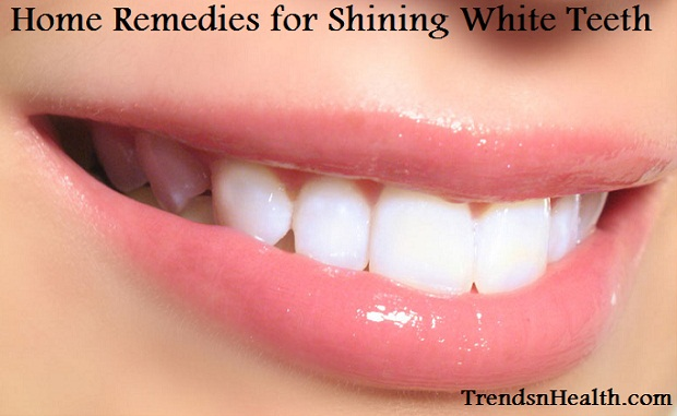 White teeth home remedy. beautiful pearl white shining teeth smile