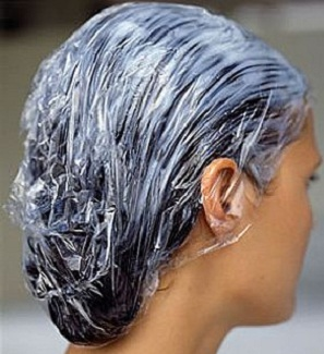 Hair Mask on Hair with Shower Cap