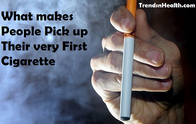Stop smoking, quit smoking, why people pick their first cigarette