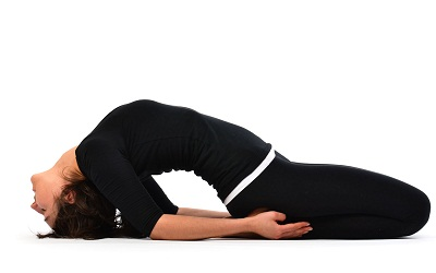 fish pose Matsayasana to increase height