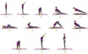 surya-namaskar-sun-salutation to increase height