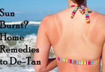HOme remedies to de-tan skin