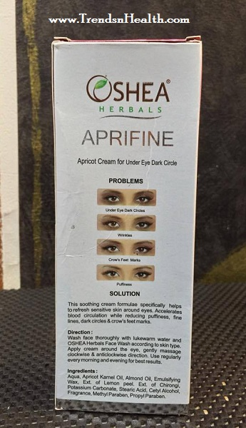 Oshea Herbals Aprifine Under Eye Gel Cream Review